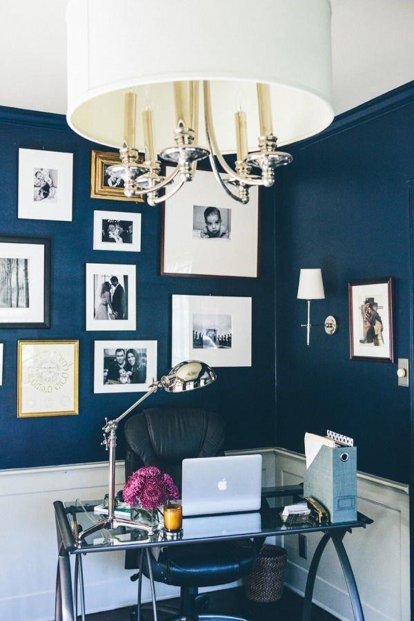 Không gian làm việc mơ ước của mọi nhân viên - Văn phòng màu xanh đậm
